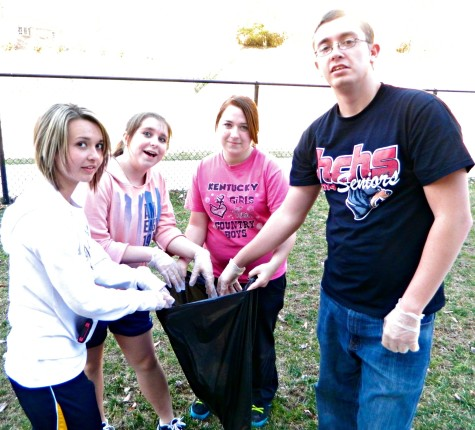 Students participate in PRIDE cleanup