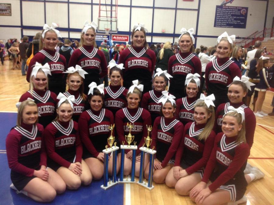 Cheerleaders compete in Richmond