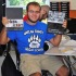 Harlan County High School senior showed off a couple of the new yearbooks.