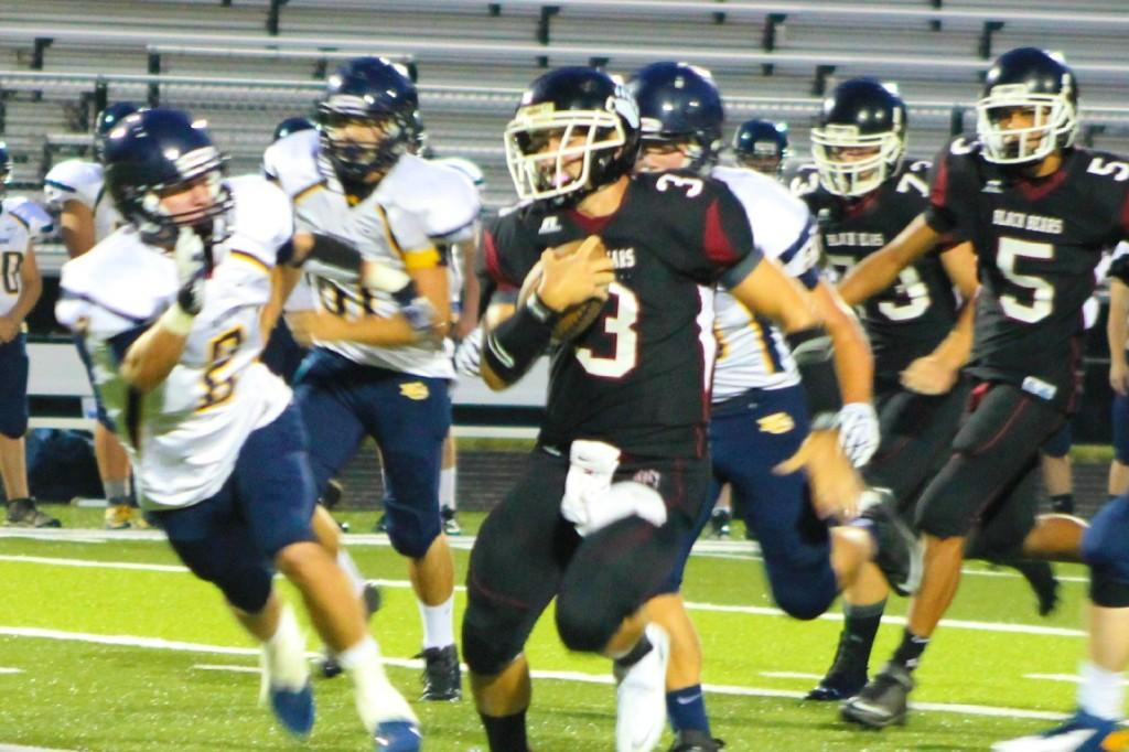 Quarterback Scotty Bailey broke free during Thursdays win over Knox Central
