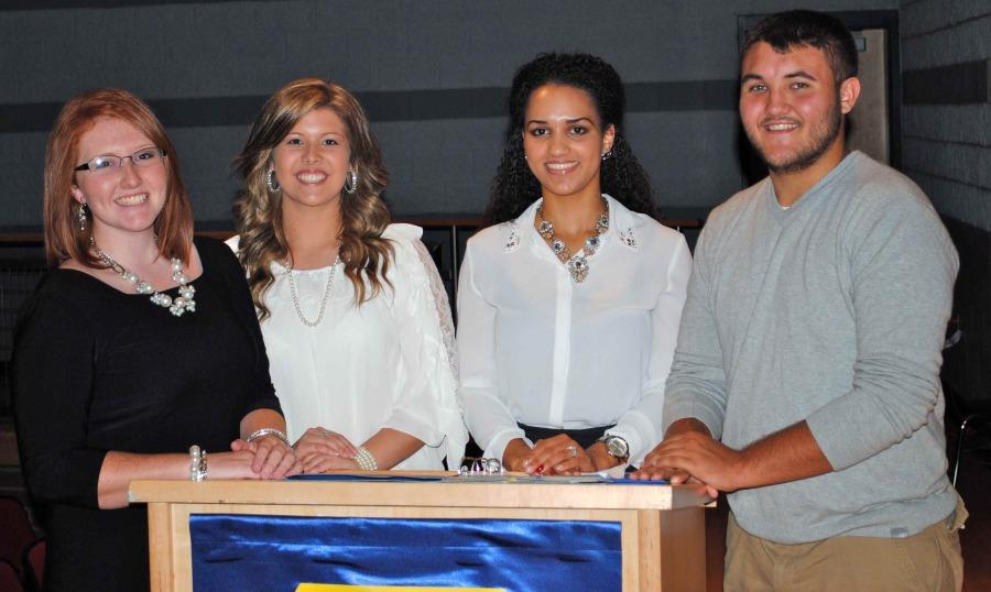 The National Honor Society recently elected officers for the 2014-2015 school year, including, from left: treasurer Summer Garrett, secretary Kennedy Thompson, president Sierra Hatfield and vice-president Gary Helton.