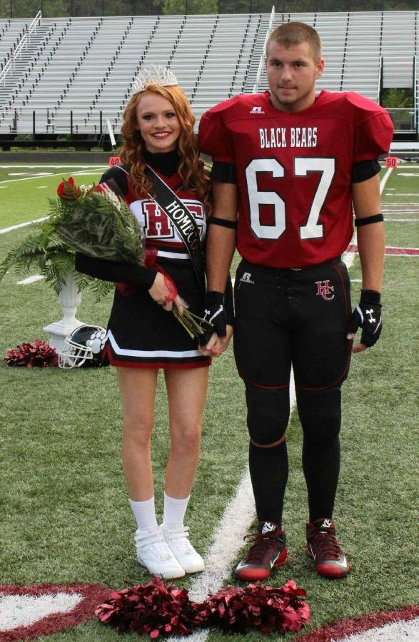 HC homecoming queen Brittney Hoskins with Dillion Day