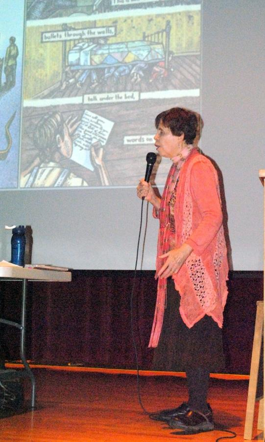 Harlan County native George Ella Lyon, a well known writer and poet, spoke to students at Harlan County High School.