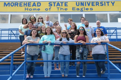 Harlan County High School students visiting Morehead State University on April 25.