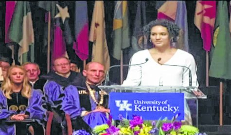 Sierra Hatfield, a Harlan County High School graduate, was the sophomore representative selected to speak at the University of Kentucky New Student Orientation program over the weekend.