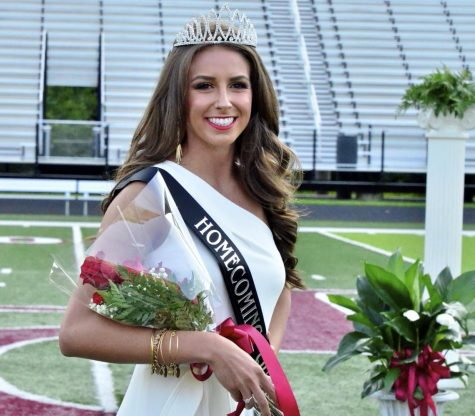 Hunter Smallwood | Bear Tracks  Harlan County High School senior Blair Green was named homecoming queen in ceremonies before Friday's game at Coal Miners Memorial Stadium.