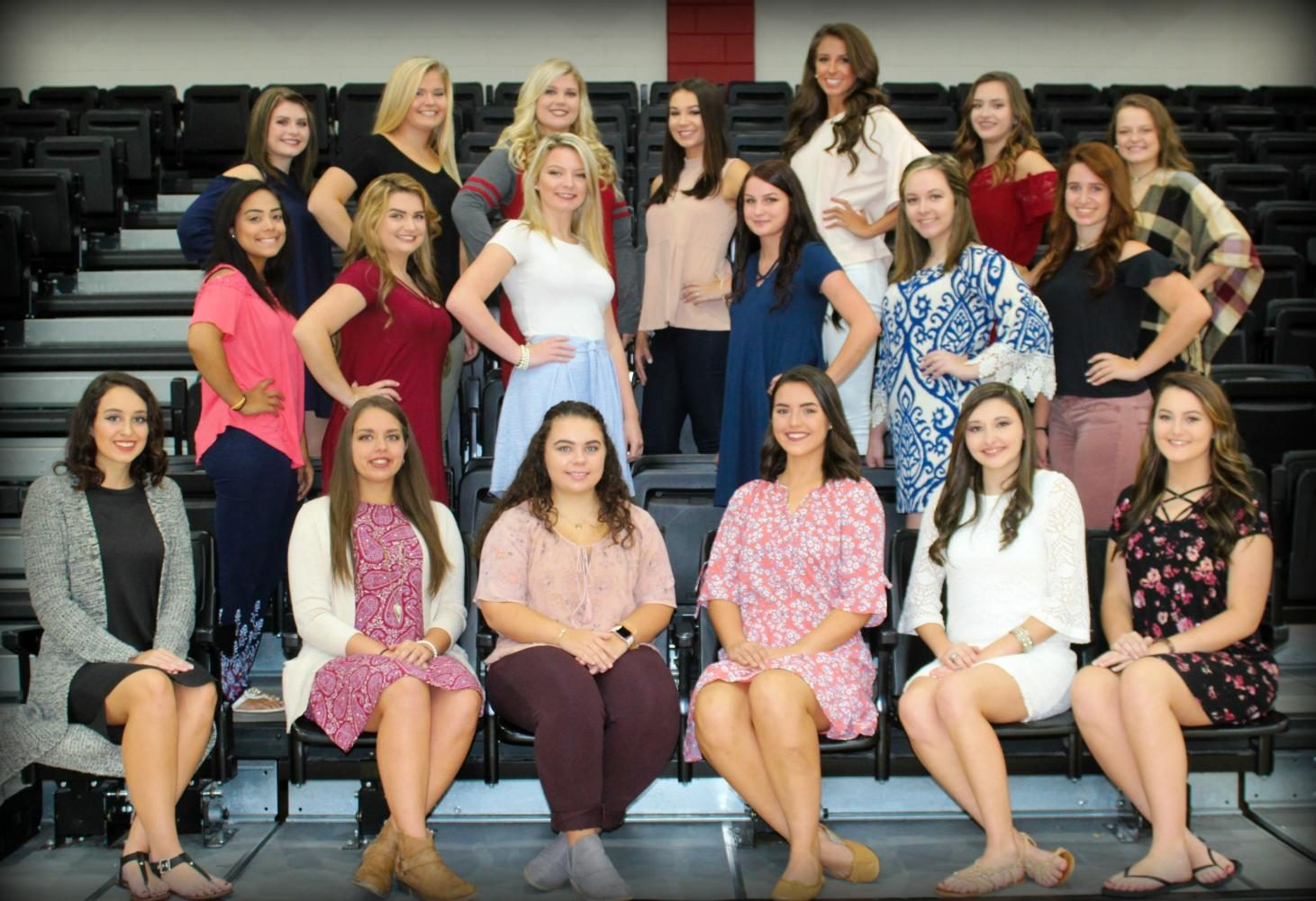 The Harlan County HIgh School homecoming queen will be crowned in ceremonies before Fridays game against Knox Central. Senior candidates include, from left, front row: Dacey Bailey, Chelsey Caldwell, Regan Caudill, Allison Cook, Shawnee Cress and Emily Eldridge; middle row: Kali King, Kerstin Perkins, Brooke Hensley, Hannah Housley, Breanna Madison and Kailee Ewald; back row: Grayson Raleigh, Taylor M. Johnson, Chelsey Noe, Brooke Pace, Blair Green, Karyssa Lamb and Brianna Smith; not pictured: Megan Witt.