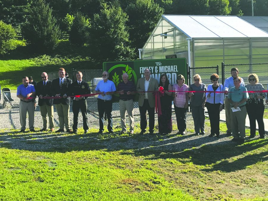 "A ribbon-cutting ceremony was held last week at Harlan County High School to mark the opening of ""The Finley & Michael Howard Agricultural Learning Center"" on the campus of the school."