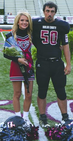 Harlan County High School senior Rhileigh Alred was selected as the school's homecoming queen in ceremonies before Friday's game against Wayne County. Alred was escorted by Matthew Bailey.