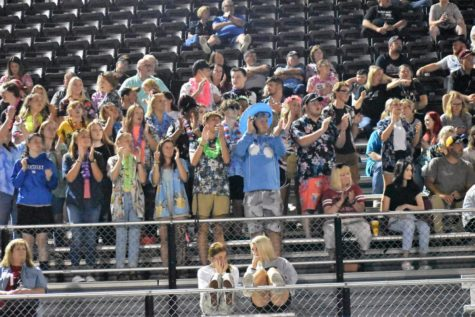 Members of the Harlan County High School Denkeepers, under the direction of Robin Sanders, cheered on the Black Bears during their season-opening win over South Laurel.