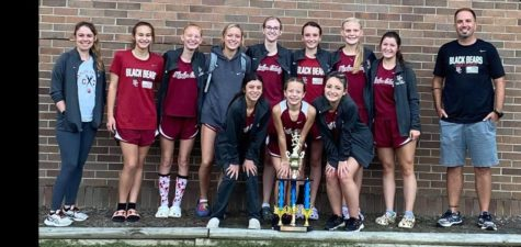 The Harlan County girls won the Southeastern Kentucky Conference meet on Tuesday at Bell County High School. Team members include, from left, front row: Aliyah Deleon, Kendall Brock and Lainey Garrett; back row: assistant coach Miranda Epperson, Taylor Clem, Summer Farley, Peyton Lunsford, Olivia Kelly, Sophie Day, Leah Taulbee and Riley Key.