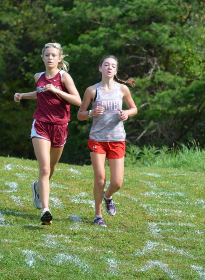 Harlan County freshman Peyton Lunsford, pictured in action earlier this season, won the Southeastern Kentucky Conference meet on Tuesay with a time of 23:30.34.